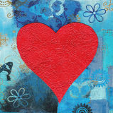 Heart collage painting Stock Photos