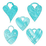 Heart collection Royalty Free Stock Image