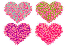 Heart Collection Isolated Stock Photography