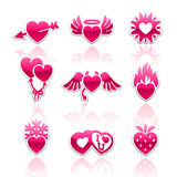 Heart collection, Love icons Stock Photos