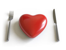 Heart collection - push here Royalty Free Stock Photography