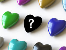 Heart collection - push here Royalty Free Stock Photo