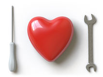Heart Collection - Push Here Royalty Free Stock Photos
