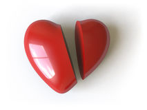 Heart collection - push here Royalty Free Stock Image