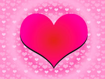 Heart  color 01. Love is everywhere. Season  of  heart Royalty Free Stock Photo
