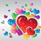 Heart color. Icon and background for desing Stock Photography