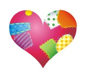 Heart with color patch Royalty Free Stock Photography