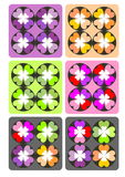 Heart color pattern Royalty Free Stock Photos