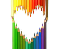 Heart. color pencils Royalty Free Stock Photos