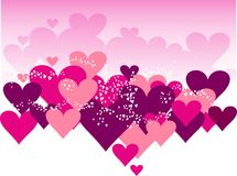 heart on color valentine's day Stock Photography