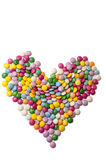 Heart of the colored chocolate candy Royalty Free Stock Photo