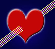 Heart with colored lines Royalty Free Stock Images