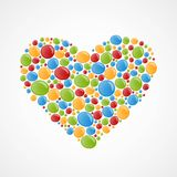 Heart of colorful bubbles. Stock Photo