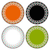 Heart colorful circle frame Royalty Free Stock Photo