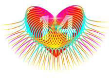 Heart colorful . February 14 Stock Image