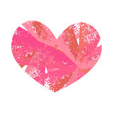 Heart colorful grunge Stock Photos