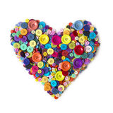 Heart from colorful heart Stock Photo