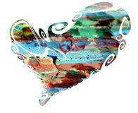 Heart. Colorful Isolated Heart In Paint Colors Design Stock Images
