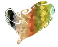 Heart. Colorful isolated heart in playful waxy shapes Royalty Free Stock Photo