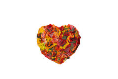 Heart from Colorful Leaves Stock Image