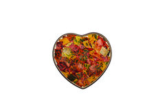 Heart from Colorful Leaves Royalty Free Stock Image