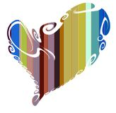 Heart and colorful lines, love image Royalty Free Stock Images