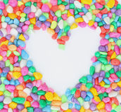 Heart from colorful stones. Royalty Free Stock Photo