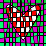 Heart colorful tiled patchwork. Colored plot Royalty Free Stock Images