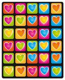 Heart colors Royalty Free Stock Photography