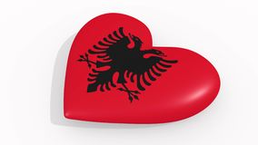 Heart in colors and symbols of Albania