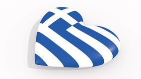 Heart in colors and symbols of Greece, loop