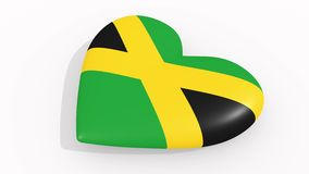 Heart in colors and symbols of Jamaica, loop. Heart in colors and symbols of Jamaica on white background, loop royalty free illustration