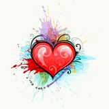 Heart on colourful background Stock Photography