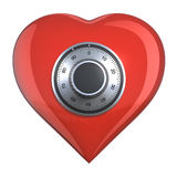 Heart with combination lock Stock Photos