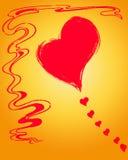 Heart Comet. Stock Image