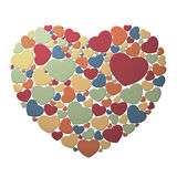 Heart composed of small hearts. Nouveau heart composed of small colorful hearts Stock Photography