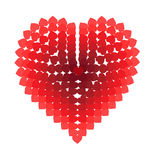Heart composed of small hearts Royalty Free Stock Images