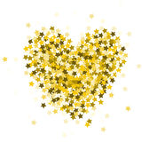 Heart composed of sparkles Stock Photo