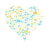The heart composition Royalty Free Stock Photos