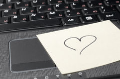 Heart on computer keyboard Stock Image