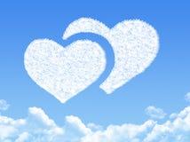 Heart concept cloud shape Stock Image