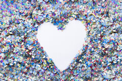 Heart confetti background Stock Photo