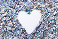 Heart confetti background Stock Photo