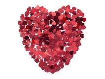 Heart from confetti Royalty Free Stock Photo