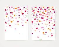 Heart Confetti Design Template Royalty Free Stock Photos