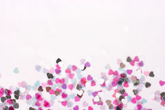 Heart Confetti Horizontal Stock Photo