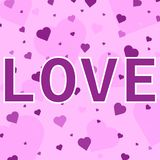 Heart confetti. Valentines. royalty free illustration