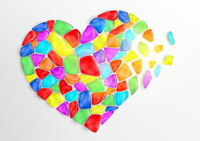 Heart consisting of colored stones Royalty Free Stock Photos