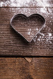 Heart cookie cutter Royalty Free Stock Photo