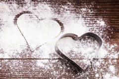 Heart cookie cutter Stock Image
